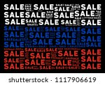 russian flag collage organized... | Shutterstock .eps vector #1117906619
