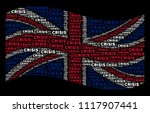 waving british official flag on ...   Shutterstock . vector #1117907441