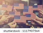 patriotic holiday. people... | Shutterstock . vector #1117907564