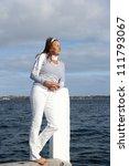 beautiful mature woman standing ... | Shutterstock . vector #111793067