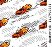 abstract seamless cars pattern. ... | Shutterstock .eps vector #1117933331
