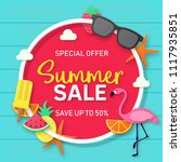 summer sale background for... | Shutterstock .eps vector #1117935851