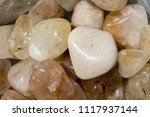 tumbled scitrine gem stone as ... | Shutterstock . vector #1117937144