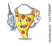 nurse pizza slice character... | Shutterstock .eps vector #1117938587