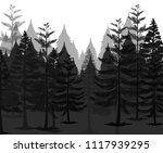 a dark mystery forest... | Shutterstock .eps vector #1117939295