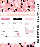 light pink vector wireframe kit ...