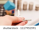 mortgage finance concept. toy... | Shutterstock . vector #1117952591