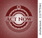 act now badge with red... | Shutterstock .eps vector #1117975361