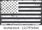black and white usa flag.grunge ... | Shutterstock .eps vector #1117976564