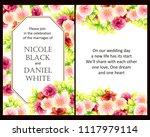 vintage delicate invitation... | Shutterstock .eps vector #1117979114