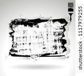black brush stroke and texture. ... | Shutterstock .eps vector #1117979255
