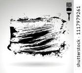 black brush stroke and texture. ... | Shutterstock .eps vector #1117979261