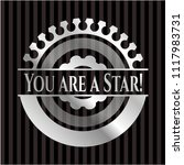 you are a star  silvery shiny... | Shutterstock .eps vector #1117983731