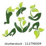 green hands  vector collection... | Shutterstock .eps vector #111798509