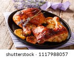 delicious food  grilled glazed... | Shutterstock . vector #1117988057