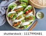 homemade asian vegetarian...   Shutterstock . vector #1117990481