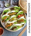 homemade asian vegetarian...   Shutterstock . vector #1117990499