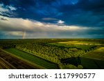 biogas plant and corn field... | Shutterstock . vector #1117990577