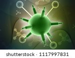 3d rendering viruses in... | Shutterstock . vector #1117997831