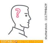 silhouette head question mark ...   Shutterstock .eps vector #1117998629