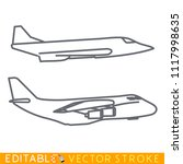military transportation plane...   Shutterstock .eps vector #1117998635