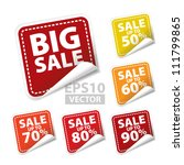big sale square sticker with... | Shutterstock .eps vector #111799865