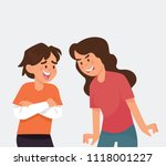 vector illustration boy and... | Shutterstock .eps vector #1118001227
