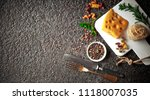 pasta in a composition with... | Shutterstock . vector #1118007035
