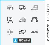 moving icon. collection of 9...   Shutterstock .eps vector #1118015111
