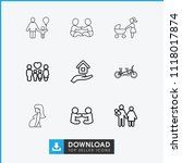 mother icon. collection of 9... | Shutterstock .eps vector #1118017874
