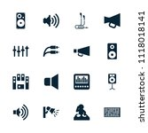 volume icon. collection of 16... | Shutterstock .eps vector #1118018141