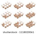 flat illustration of half a... | Shutterstock .eps vector #1118020061