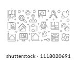 real estate outline vector...   Shutterstock .eps vector #1118020691
