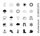 weather icon. collection of 25... | Shutterstock .eps vector #1118021591