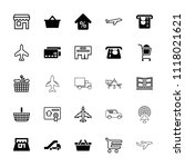 commercial icon. collection of...   Shutterstock .eps vector #1118021621