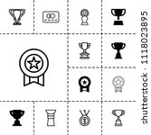 reward icon. collection of 13... | Shutterstock .eps vector #1118023895