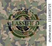 classified on camouflaged...   Shutterstock .eps vector #1118028725