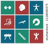 strength icon. collection of 9... | Shutterstock .eps vector #1118030375