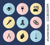 set of 9 tool filled icons such ... | Shutterstock .eps vector #1118030399