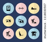 set of 9 road filled icons such ... | Shutterstock .eps vector #1118030507