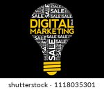 digital marketing bulb word... | Shutterstock .eps vector #1118035301