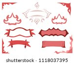vector set of labels and labels ... | Shutterstock .eps vector #1118037395