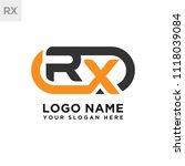 rx initial logo template vexctor | Shutterstock .eps vector #1118039084