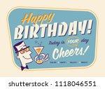 vintage style happy birthday...   Shutterstock .eps vector #1118046551