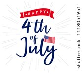 4th of july  happy independence ... | Shutterstock .eps vector #1118051951