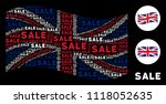 waving great britain state flag ... | Shutterstock .eps vector #1118052635