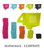 abstract origami speech bubble... | Shutterstock .eps vector #111805655