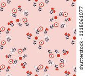 seamless ditsy pattern in small ... | Shutterstock . vector #1118061077