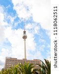 berlin tv tower with cloudy sky ... | Shutterstock . vector #1118062511