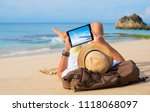 man buying airline tickets... | Shutterstock . vector #1118068097